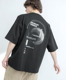 シルケットライク天竺 オーバーサイズ S/S メッセージプリント カットソー EMMA CLOTHES 2021SS COLLECTION - INVERSION(反転) × HIDE AND SEEK(かくれんぼ) -ブラック系その他3