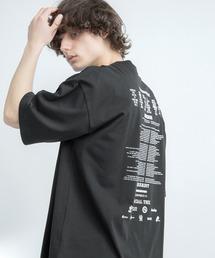 シルケットライク天竺 オーバーサイズ S/S メッセージプリント カットソー EMMA CLOTHES 2021SS COLLECTION - INVERSION(反転) × HIDE AND SEEK(かくれんぼ) -ブラック系その他4
