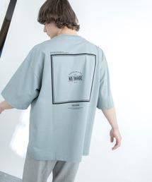 シルケットライク天竺 オーバーサイズ S/S メッセージプリント カットソー EMMA CLOTHES 2021SS COLLECTION - INVERSION(反転) × HIDE AND SEEK(かくれんぼ) -ブルー系その他2