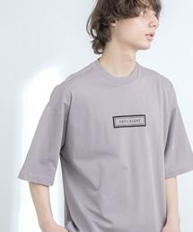シルケットライク天竺 オーバーサイズ S/S メッセージプリント カットソー EMMA CLOTHES 2021SS COLLECTION - INVERSION(反転) × HIDE AND SEEK(かくれんぼ) -パープル系その他2