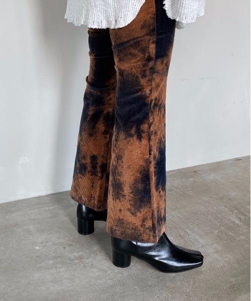 【SANSeLF】 tie dye flare pants sanw41
