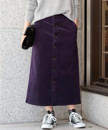 【予約】【WEB限定】by ※14Wフロントボタンコーデュロイスカート