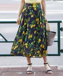 ROPE' PICNIC(ロペピクニック)のフルーツ柄ロングスカート(スカート)