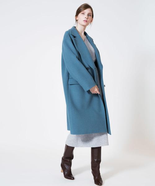 上品なスタイル MANTECO二重織ダブルブレストコート(ピーコート)|allureville(アルアバイル)のファッション通販, タテヤマシ:3194561a --- svarogday.com