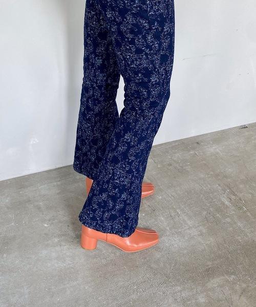 【SANSeLF】indigo embroidery pants sanw42