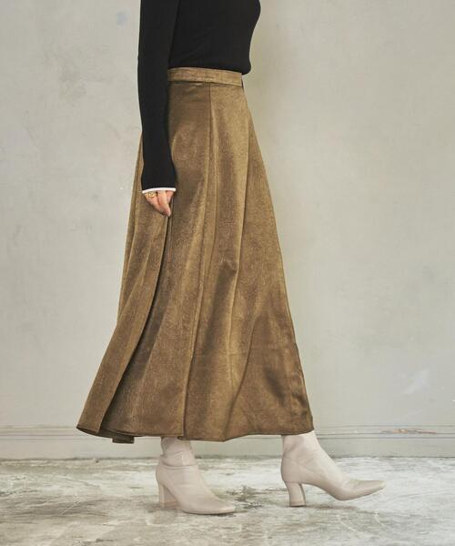 起毛サテンスカート