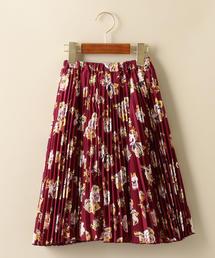 フラワープリントプリーツスカート ◆