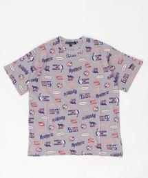HYS FANTASTIC総柄 Tシャツ【L】グレー