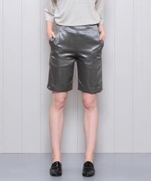 <H>WET SATIN SHORT PANTS/パンツ