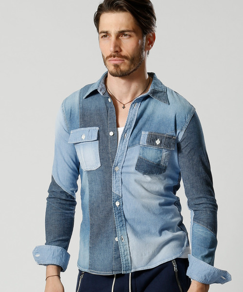 wjk switching chambray work shirt4828 dn66j