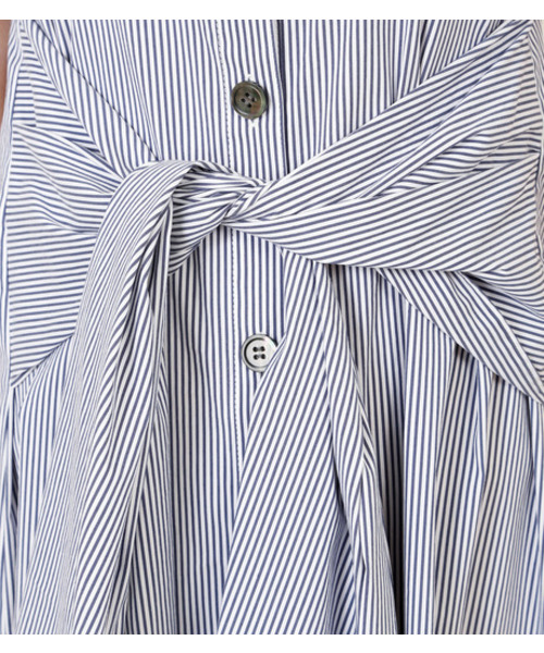 Tie Front Sleeveless Dress