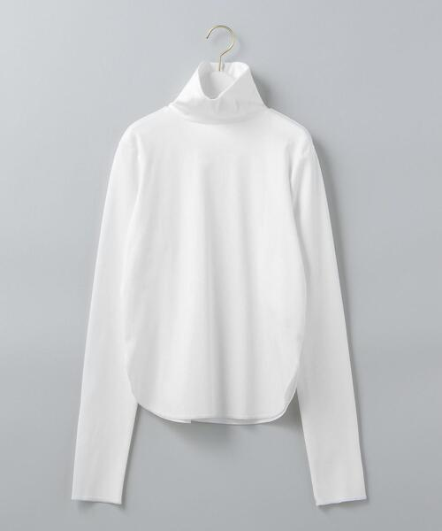 <6(ROKU)>ZIP TURTLE NECK PULLOVER/カットソー