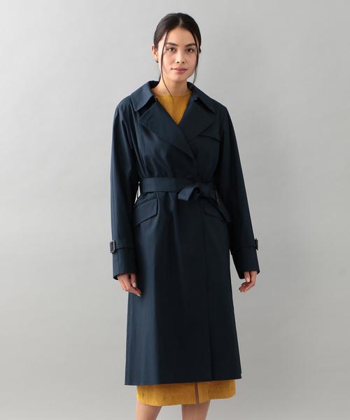 【特別訳あり特価】 <Spring Coat>ベンタイル比翼トレンチコート, 秋芳町 b7fd1c24