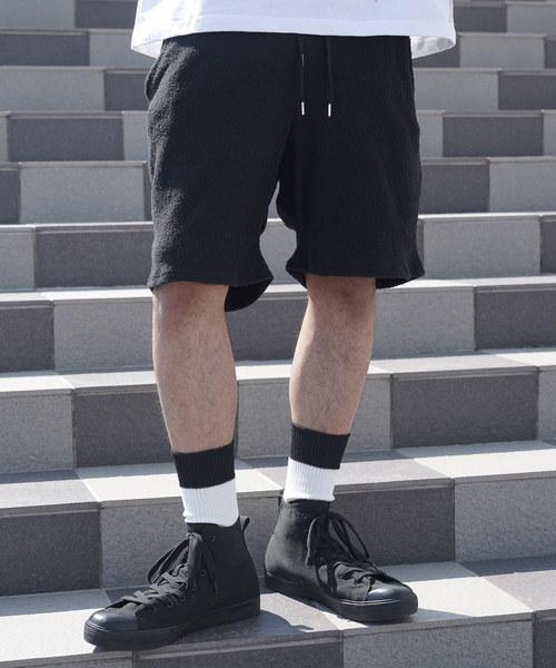 【LIBERTY CITY/リバティーシティ】 両面パイル·ジョガー·ショートパンツ