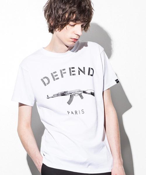 DEFEND PARIS(ディフェンド パリス)の「PARIS TEE(Tシャツ/カットソー)」|ホワイト