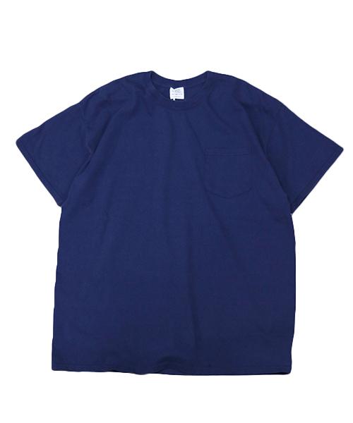 TOWNCRAFT(タウンクラフト)の「【WEB限定】TOWN CRAFT/タウンクラフト 6 OZ JERSEY POCKET SS TEE(Tシャツ/カットソー)」|ネイビー