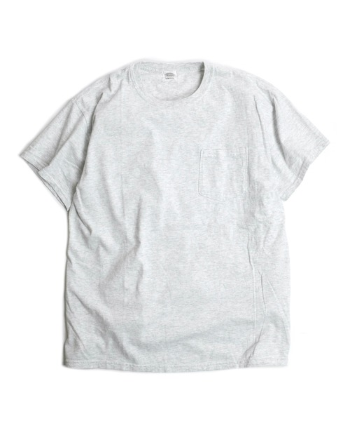 TOWNCRAFT(タウンクラフト)の「【WEB限定】TOWN CRAFT/タウンクラフト 6 OZ JERSEY POCKET SS TEE(Tシャツ/カットソー)」|ライトグレー