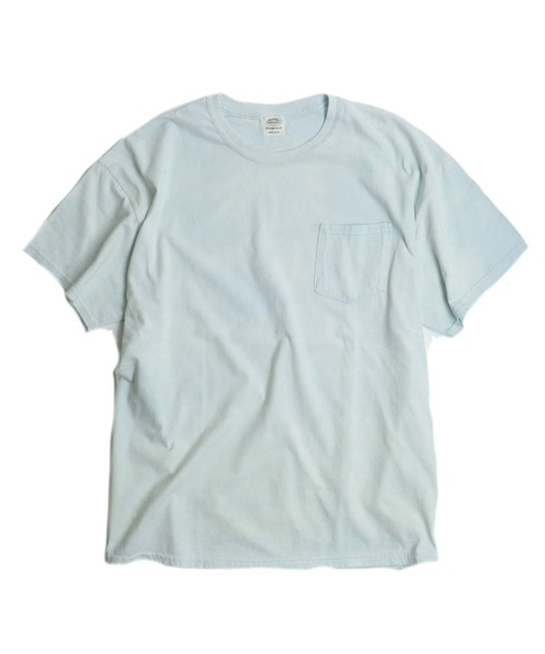 TOWNCRAFT(タウンクラフト)の「【WEB限定】TOWN CRAFT/タウンクラフト 6 OZ JERSEY POCKET SS TEE(Tシャツ/カットソー)」 ライトブルー