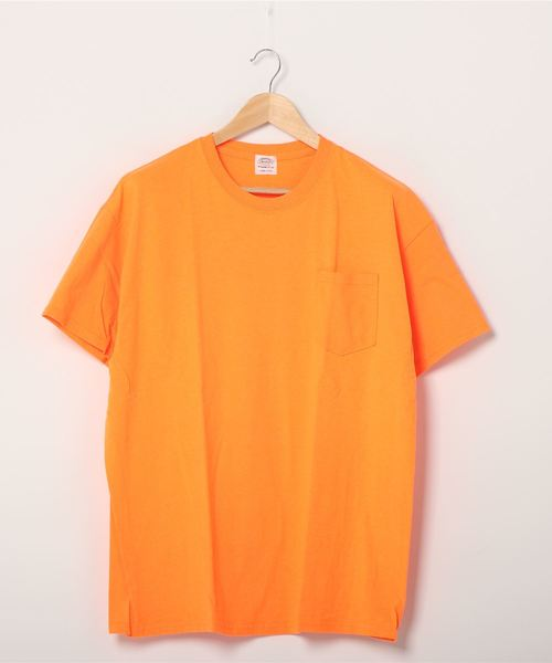 TOWNCRAFT(タウンクラフト)の「【WEB限定】TOWN CRAFT/タウンクラフト 6 OZ JERSEY POCKET SS TEE(Tシャツ/カットソー)」|オレンジ