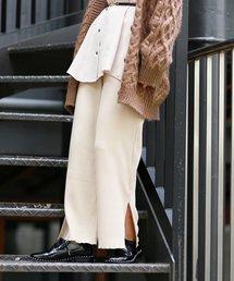 mysty woman(ミスティウーマン)のリブジャガードカットワイドパンツ(パンツ)