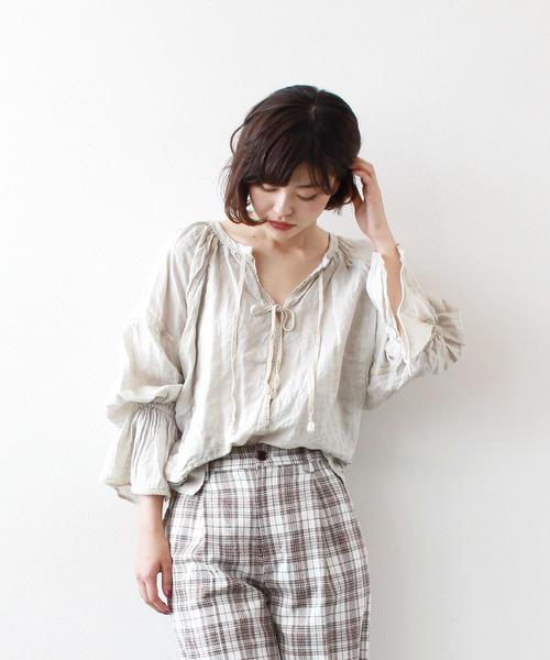 【60%OFF】 barbara linen blouse(ボリュームスリーブリネンブラウス), イベントアイテムのワンステップ 9b3735a8