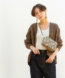 【WEB限定】ローゲージケーブル編みカーディガン