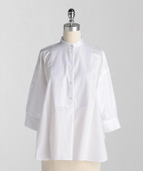 <LOEFF(ロエフ)> ピンタック バンドカラー シャツ