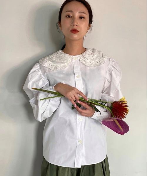 【SANSeLF】double frill collar shirt sanw46