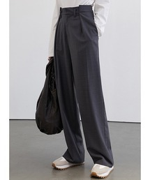 【Fano Studios】【2021SS】High waist semi-wide tack slacks FC21K007ダークグレー