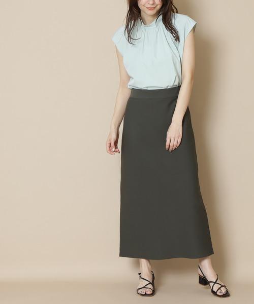 N.(N. Natural Beauty Basic)(エヌエヌナチュラルビューティーベーシック)の「◆ウォッシャブルニットタイトスカート(スカート)」|チャコール