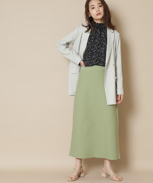 N.(N. Natural Beauty Basic)(エヌエヌナチュラルビューティーベーシック)の「◆ウォッシャブルニットタイトスカート(スカート)」|ライトグリーン