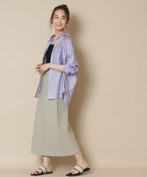 N.(N. Natural Beauty Basic)(エヌエヌナチュラルビューティーベーシック)の「◆ウォッシャブルニットタイトスカート(スカート)」|詳細画像