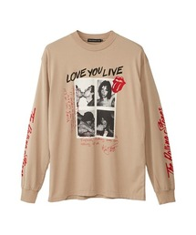 THE ROLLING STONES/LOVE YOU LIVE Tシャツベージュ