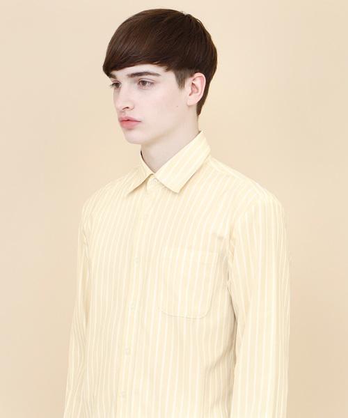 ストライプシャンブレーシャツ(Stripe Chambray Shirts)