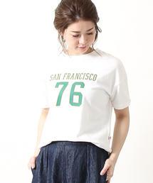 USAコットンロゴプリントTシャツ