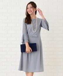 12d486923b0a4 Lace Ladies(レースレディース)の「フレア袖切り替えシンプルワンピース・ドレス(