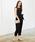 mysty woman(ミスティウーマン)の「シアービスチェパンツドレス 851633(ドレス)」 ブラック