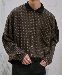 kutir(クティール)のリブ襟柄シャツ(シャツ/ブラウス)