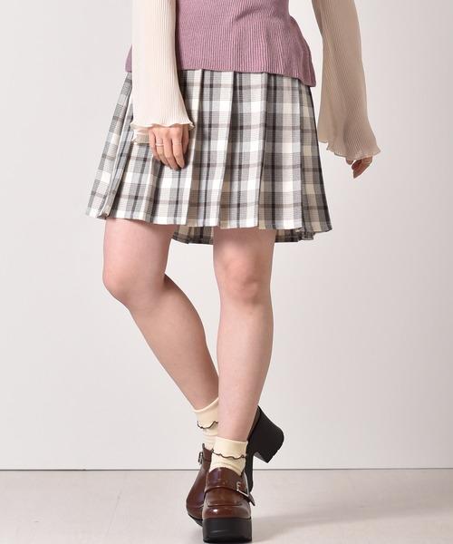 プリーツミニフレアスカート