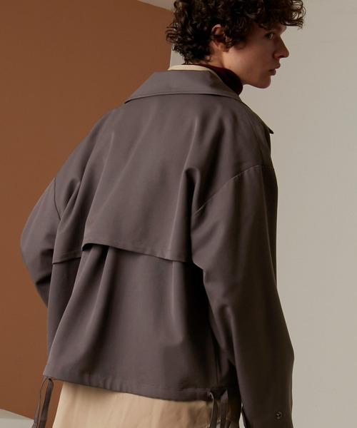 オーバーサイズ 袖ボリューム オーバーサイズ フライト コーチ ジャケット/CPOショート/ヨーク/ロングブルゾン(EMMA CLOTHES)
