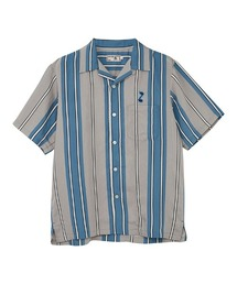 TRIPPIN'ON YOU刺繍 オープンカラーシャツブルー系その他