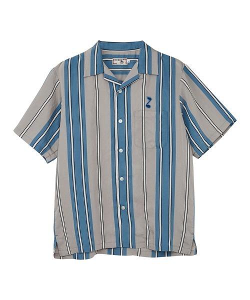 TRIPPIN'ON YOU刺繍 オープンカラーシャツ