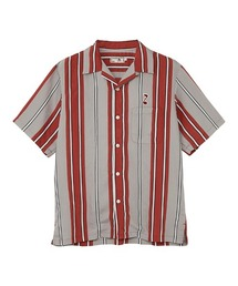 TRIPPIN'ON YOU刺繍 オープンカラーシャツレッド系その他