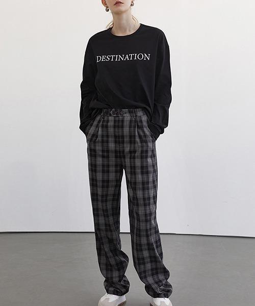 【Fano Studios】【2021SS】Wide straight plaid pants FC21K008