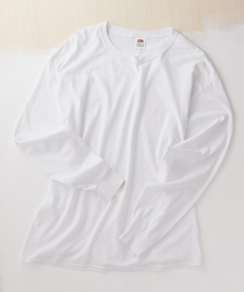 FRUIT OF THE LOOM Crew Neck Cut & Sew Cotton Long Sleeve フルーツオブザルーム ロングスリーブカットソー