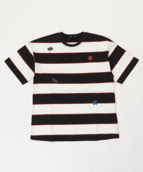 LOGO SCRATCH刺繍 ビッグTシャツ【L】