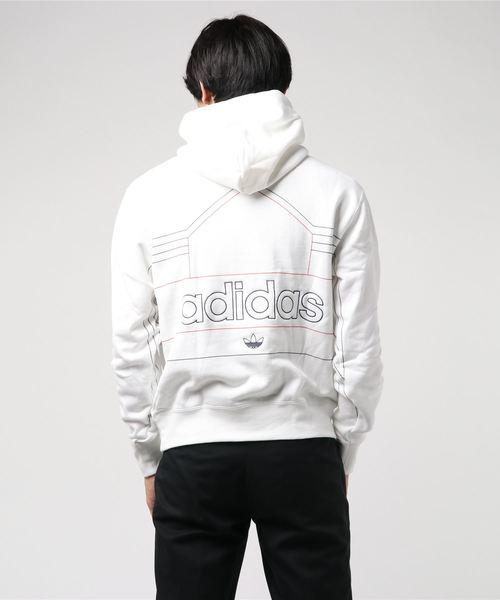 adidas Originals / EWING HOODIE (ホワイト/ローアンバーF18)