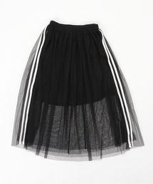 LOVETOXIC(ラブトキシック)のラインチュールロングスカート(スカート)