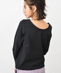 koe(コエ)のボートネック背中開き長袖プルオーバー(Tシャツ/カットソー)