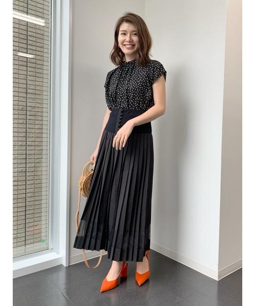 Re.Verofonna(ヴェロフォンナ)の「2WAYプリーツスカート(スカート)」|ブラック